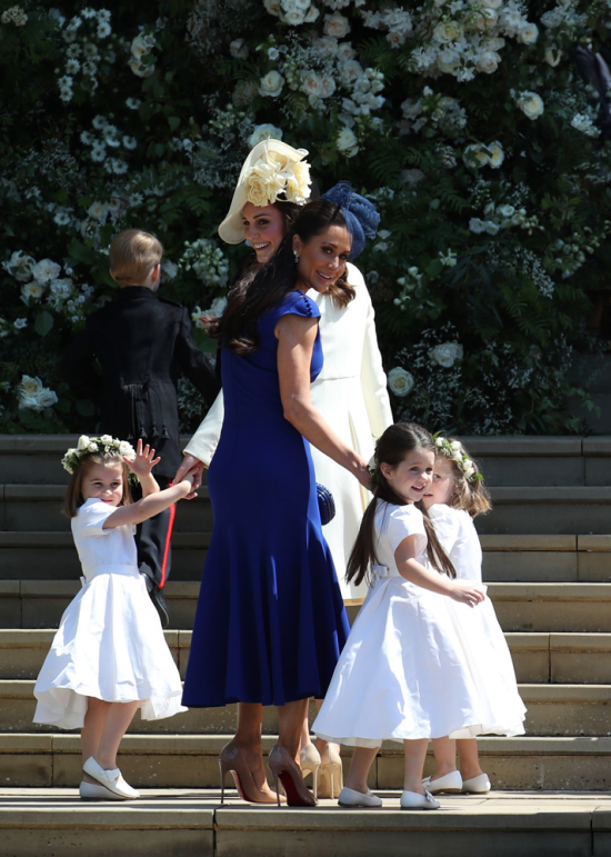 Royal Wedding Canadian Fashion Stylist Jessica Mulroney Wears Designer Di Carlo Couture